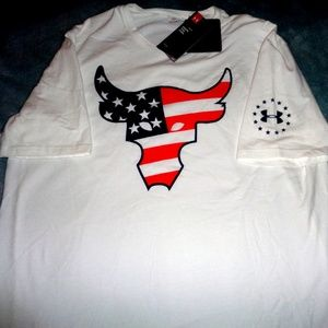 Under Armour X Project Rock Freedom Bull  T Shirt